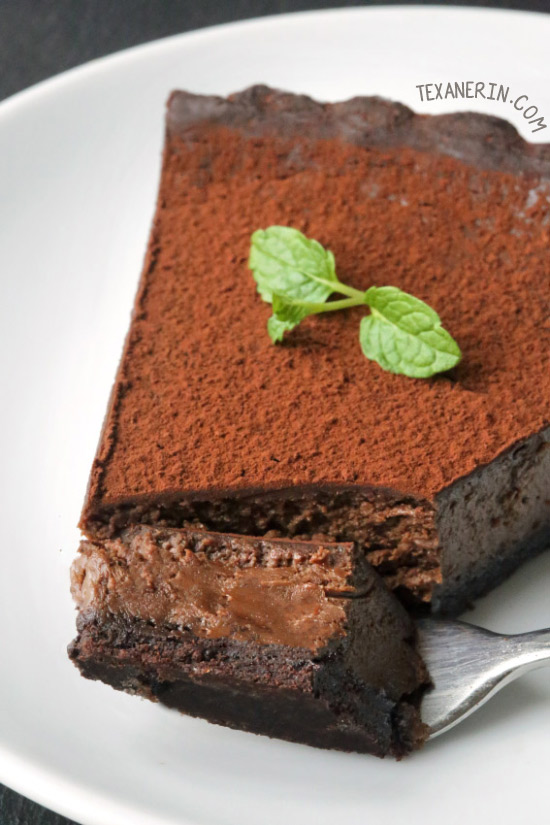 Mint Chocolate Tart {grain-free, gluten-free, whole grain options}