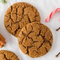 Molasses Cookies (gluten-free, vegan options)