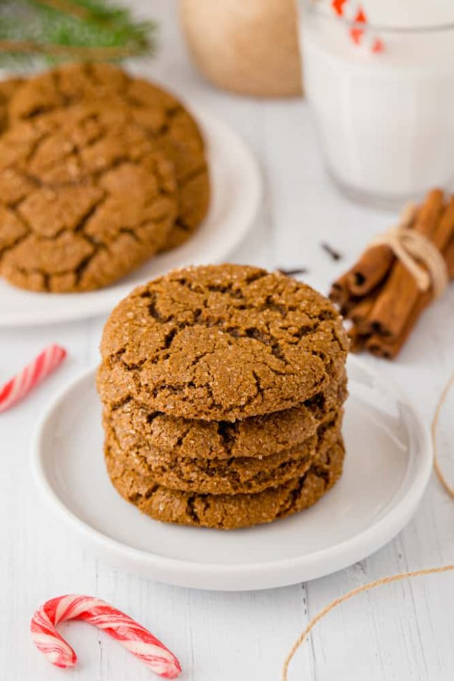 Soft and Chewy Molasses Cookies {gluten-free, vegan, 100% whole grain and dairy-free options} With a how-to recipe video.