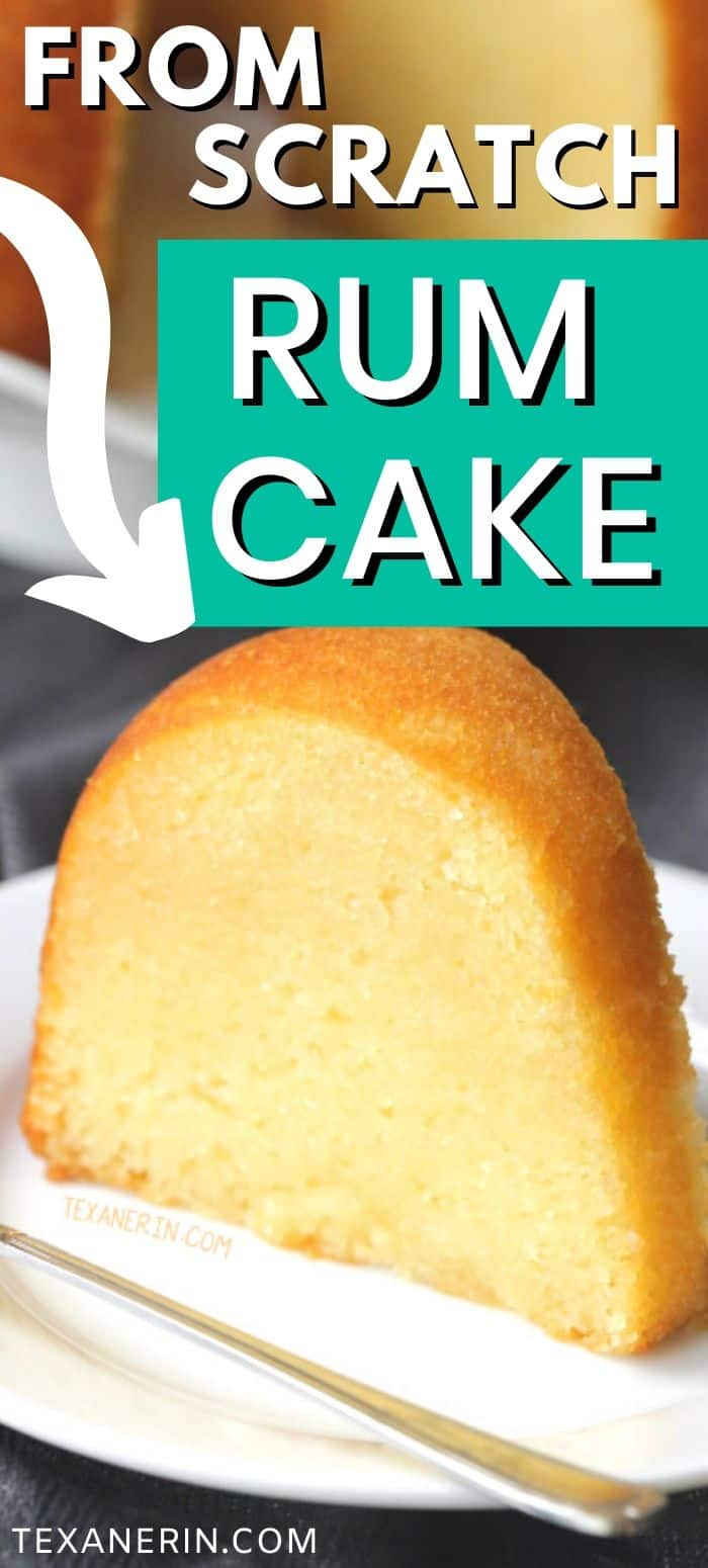 Rum cake from scratch – there's no pudding or cake mix involved and it's even more delicious than the cake mix version! Can be made with all-purpose flour or with whole wheat pastry flour for a 100% whole grain version.