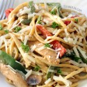 Healthier Cajun Chicken Pasta (gluten-free, whole grain options)