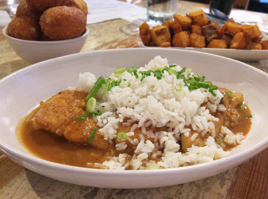 New Orleans: What and Where to Eat – Smothered Catfish at Pêche Seafood Grill