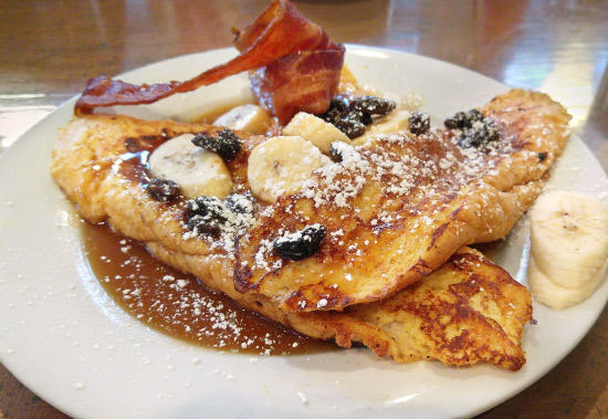 New Orleans: What and Where to Eat – Bananas Foster Pain Perdu at The Ruby Slipper Cafe