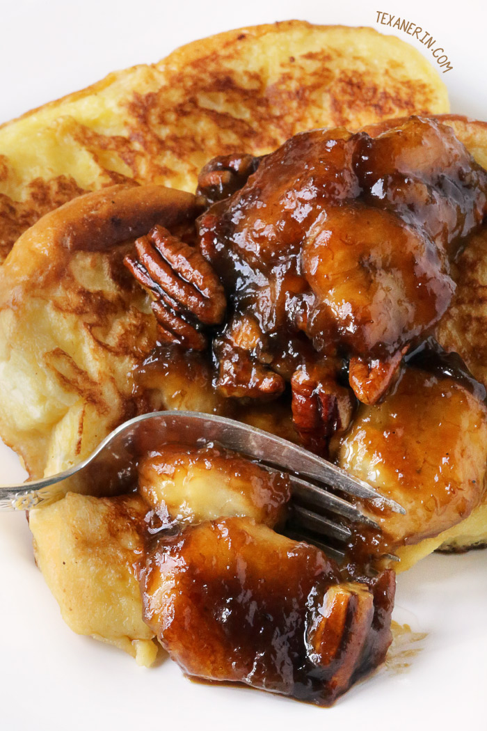Bananas Foster French Toast {with gluten-free, whole grain, dairy-free ...