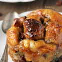 Bread Pudding for Two with Bourbon Sauce (gluten-free, dairy-free, whole grain options)