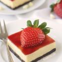 Strawberry White Chocolate Cheesecake Bars (gluten-free, whole grain options)