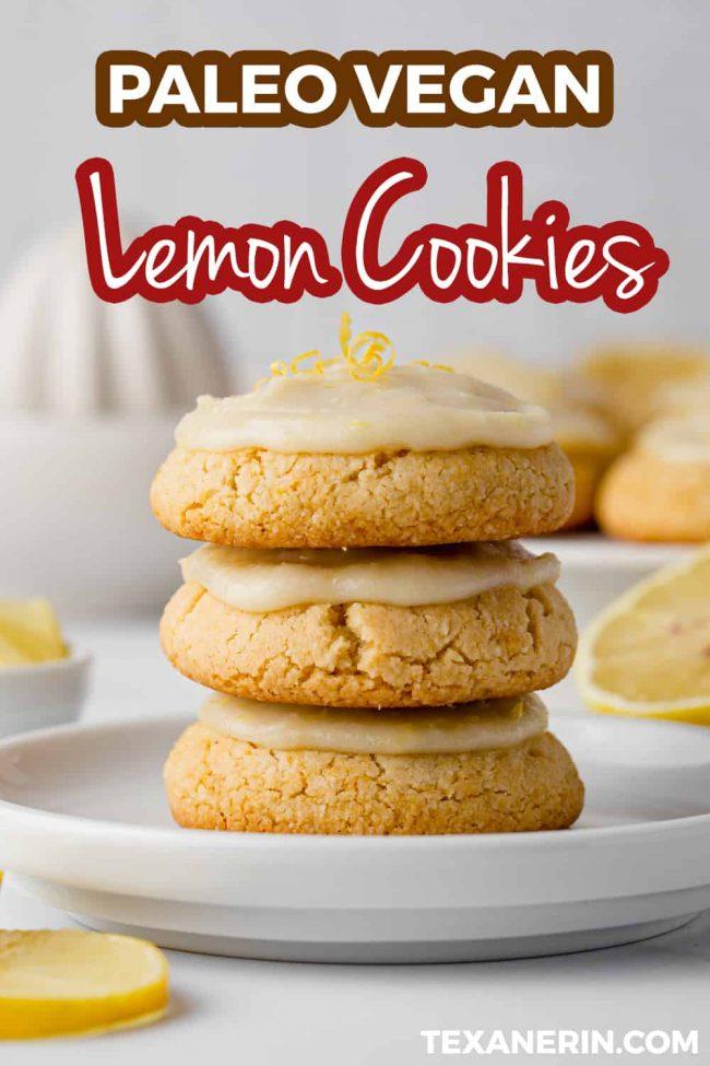 Gluten Free Lemon Cookies Paleo Vegan