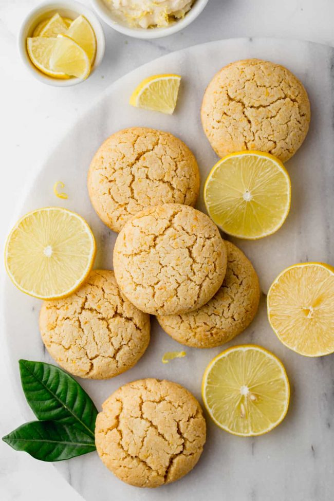 Vegan lemon cookies that are also paleo, easy to make and have a delicious frosting!