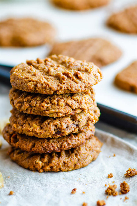 Flourless Banana Almond Butter Cookies