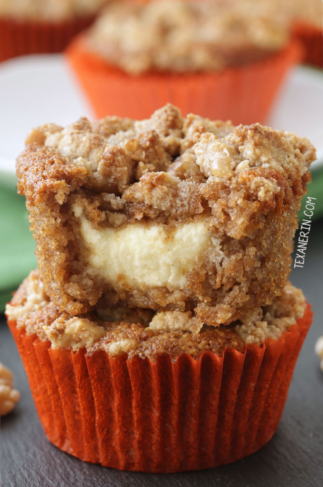 Fluffy and moist carrot cake cream cheese muffins (grain-free and gluten-free)