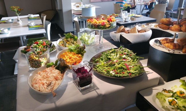 Hotel OTTO Breakfast Buffet – the salads