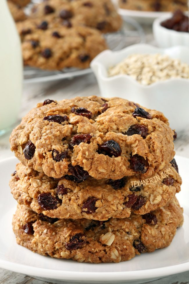 The Best Gluten-free Oatmeal Raisin Cookies (dairy-free with whole wheat and all-purpose flour options)