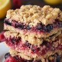 Berry Bars (vegan, whole grain, dairy-free options)