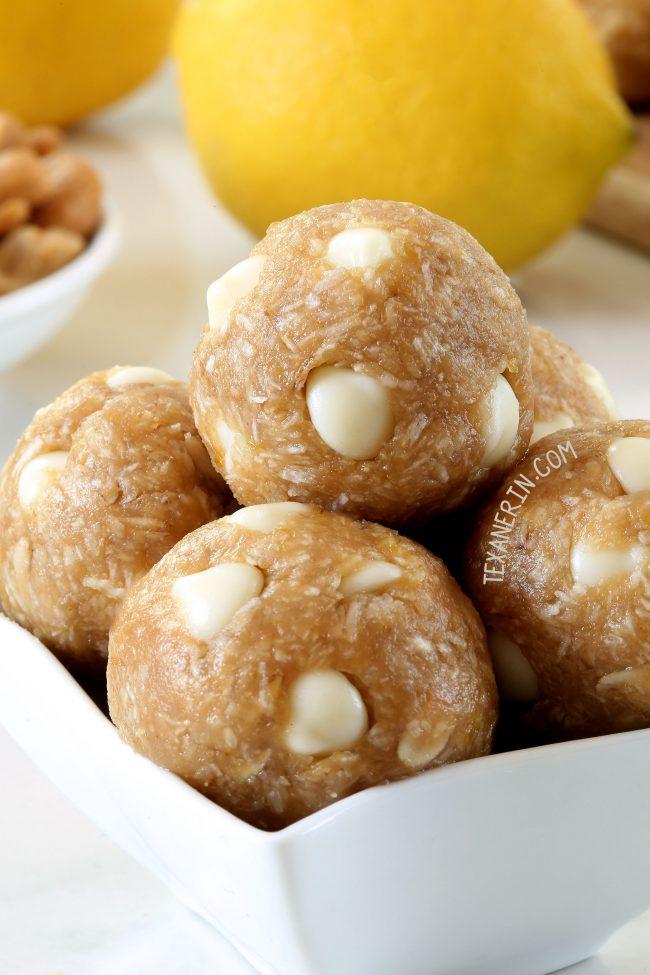 Lemon Protein Balls (vegan, gluten-free, whole grain, and dairy-free)