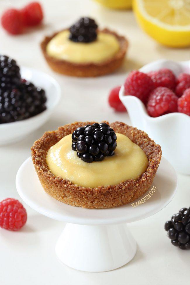 Honey-sweetened Paleo Mini Lemon Tarts