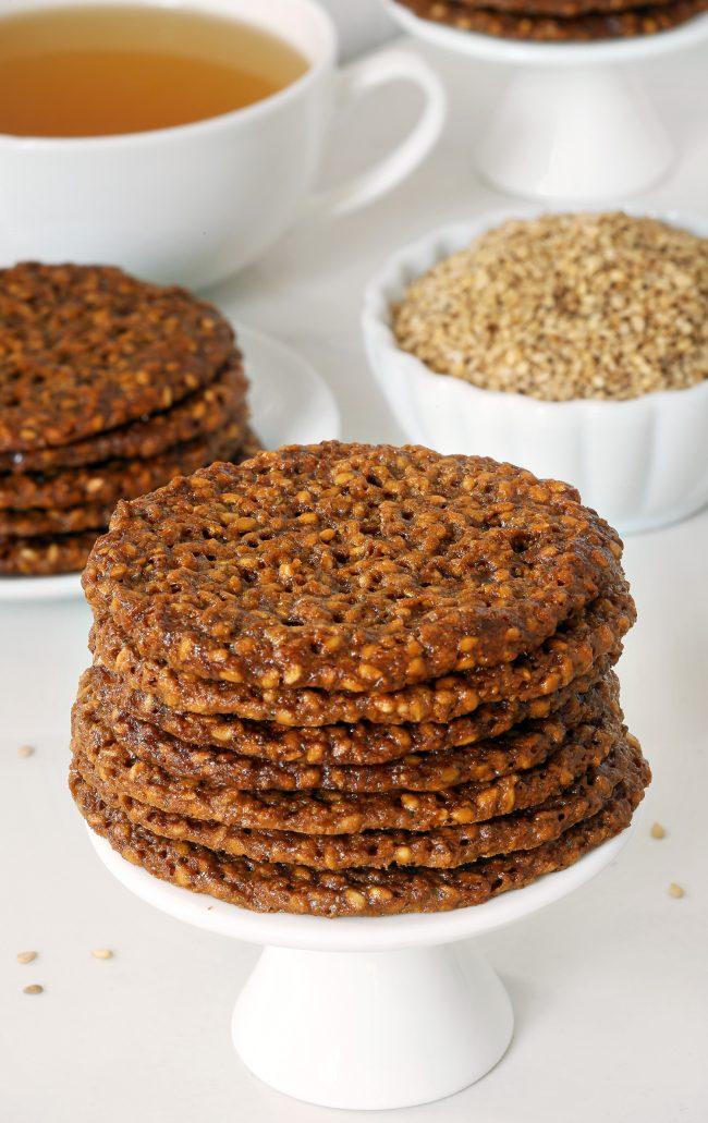 Paleo Sesame Cookies (Benne Wafers - a South Carolinian specialty