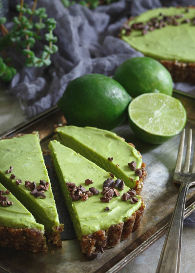 Avocado Tart from Running to the Kitchen