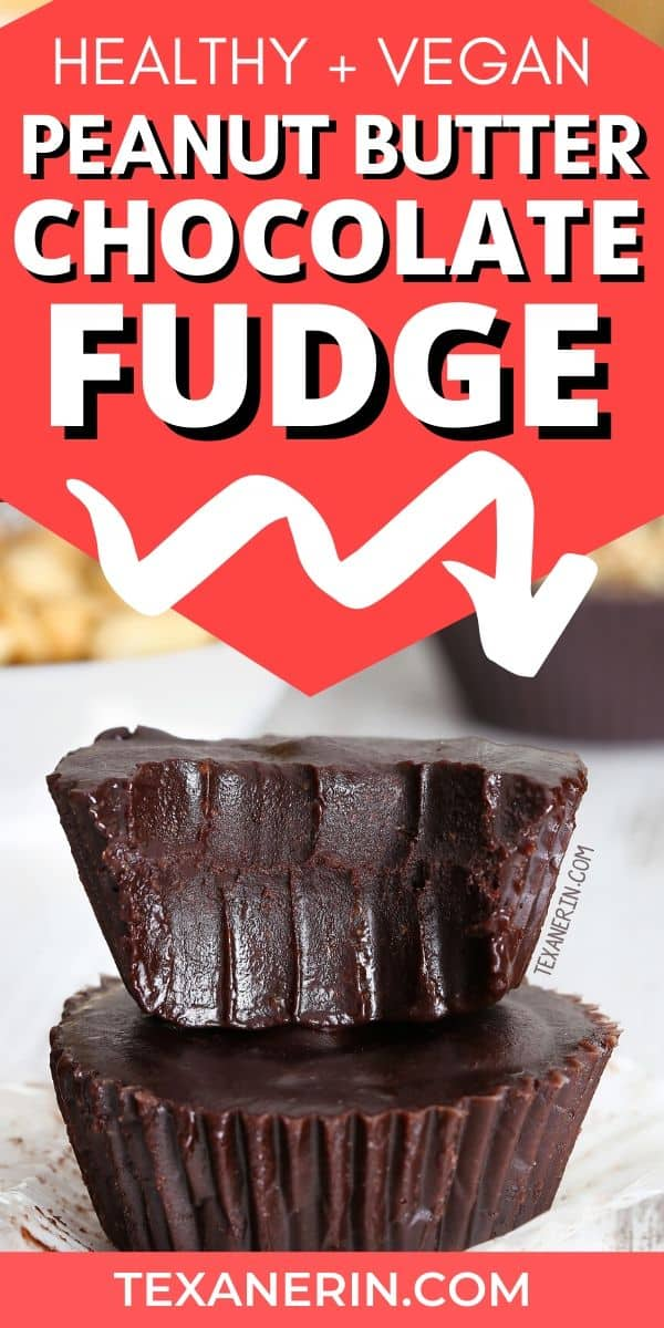 This healthy chocolate peanut butter fudge couldn't be any easier! You just melt everything together. Naturally vegan with a paleo and nut-free option.
