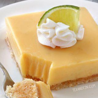 Key Lime Bars (gluten-free, whole grain, all-purpose options)