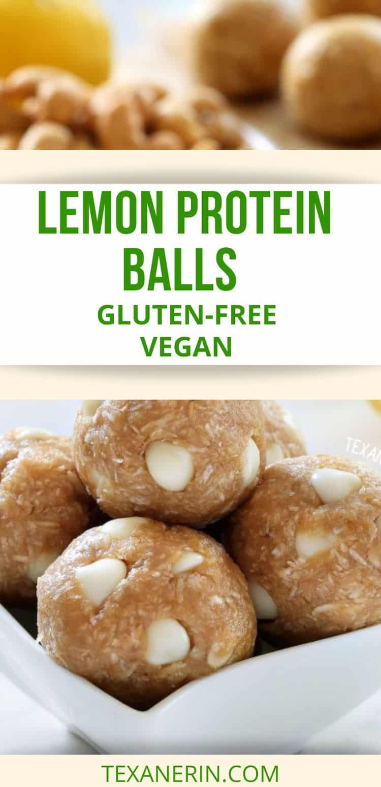 These lemon protein balls only take a few minutes to put together and are naturally gluten-free, vegan, 100% whole grain and dairy-free.