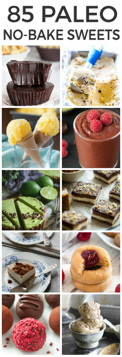 85 Paleo No-bake Desserts (mostly vegan!)