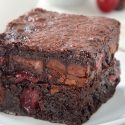 Cherry Brownies (gluten-free, whole grain, dairy-free)