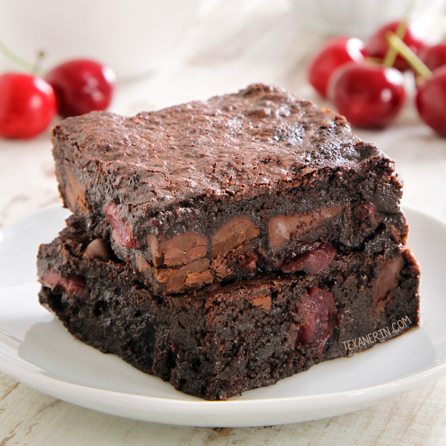 Cherry Brownies - Texanerin Baking