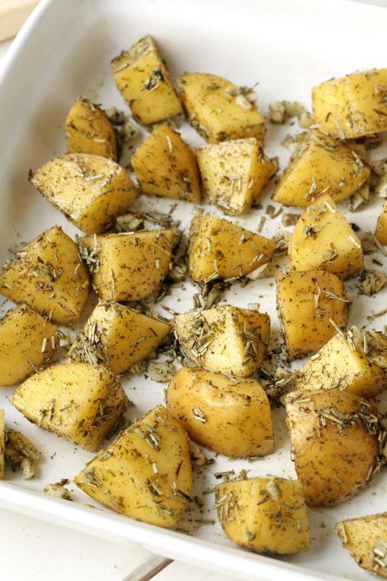 Herb and Garlic Roasted Potatoes - Texanerin Baking