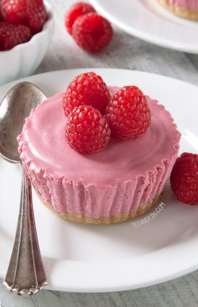 Paleo No-Bake Raspberry Cream Pies (vegan, gluten-free, grain-free, dairy-free)