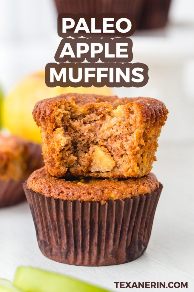 Paleo Apple Muffins – fuss-free, super moist and maple sweetened.
