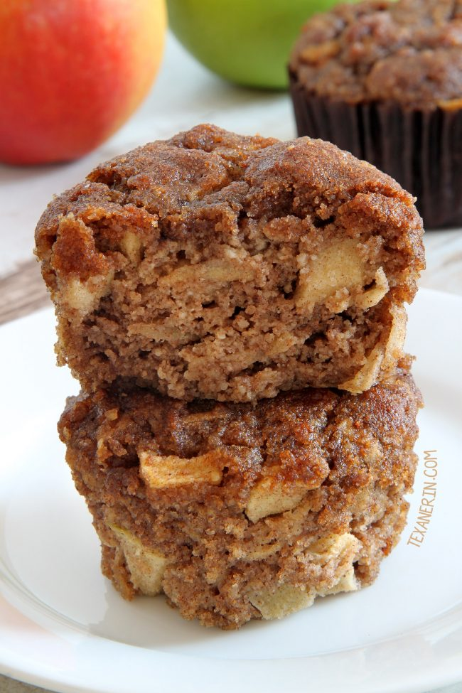 Paleo Apple Muffins – maple sweetened, fuss-free and super moist.