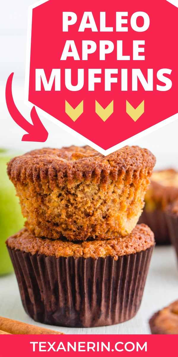 These paleo apple muffins are fuss-free and completely maple sweetened. They get extra apple flavor from grated and diced apples.