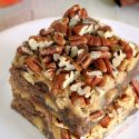 Apple Brownies With Easy Caramel Frosting (gluten-free, whole grain, all-purpose options)
