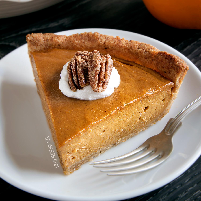 Vegan Pumpkin Pie (paleo, Grain-free, Gluten-free, Dairy