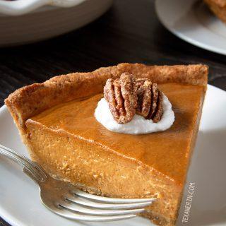 Paleo Vegan Pumpkin Pie {grain-free, gluten-free, dairy-free}