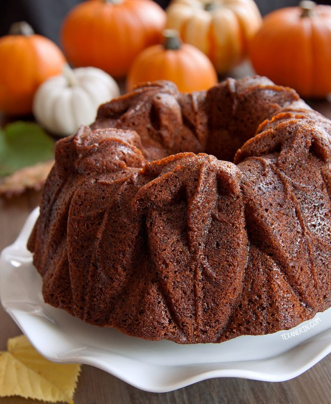 Bourbon Pumpkin Cake (can be made with gluten-free, whole grain and all-purpose flour)