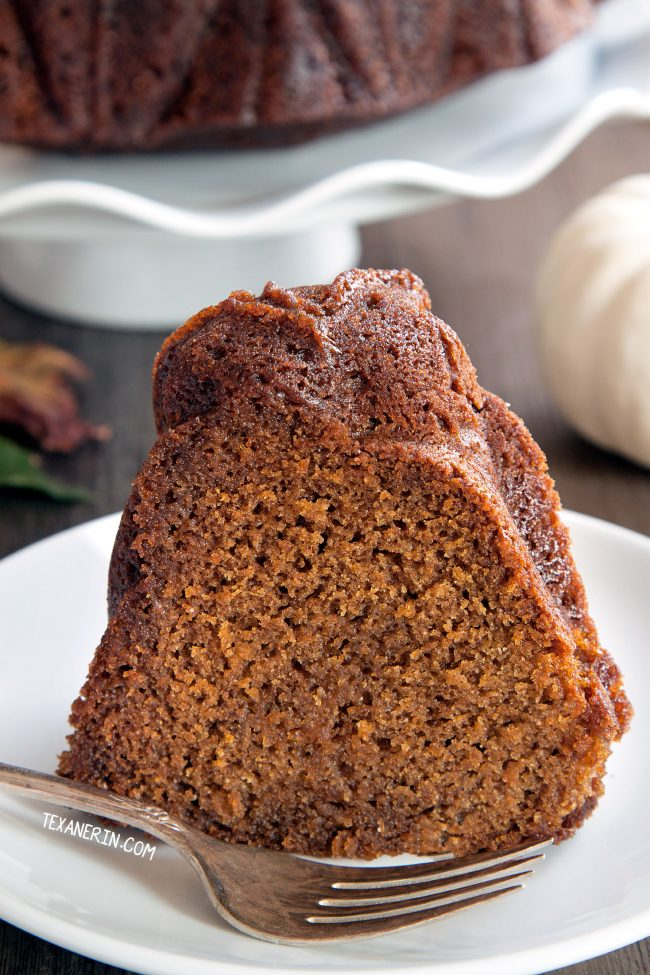 Bourbon Pumpkin Cake (can be made with gluten-free, all-purpose and whole grain flours)