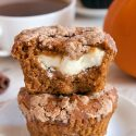 Pumpkin Cream Cheese Muffins (gluten-free, whole grain, all-purpose options)