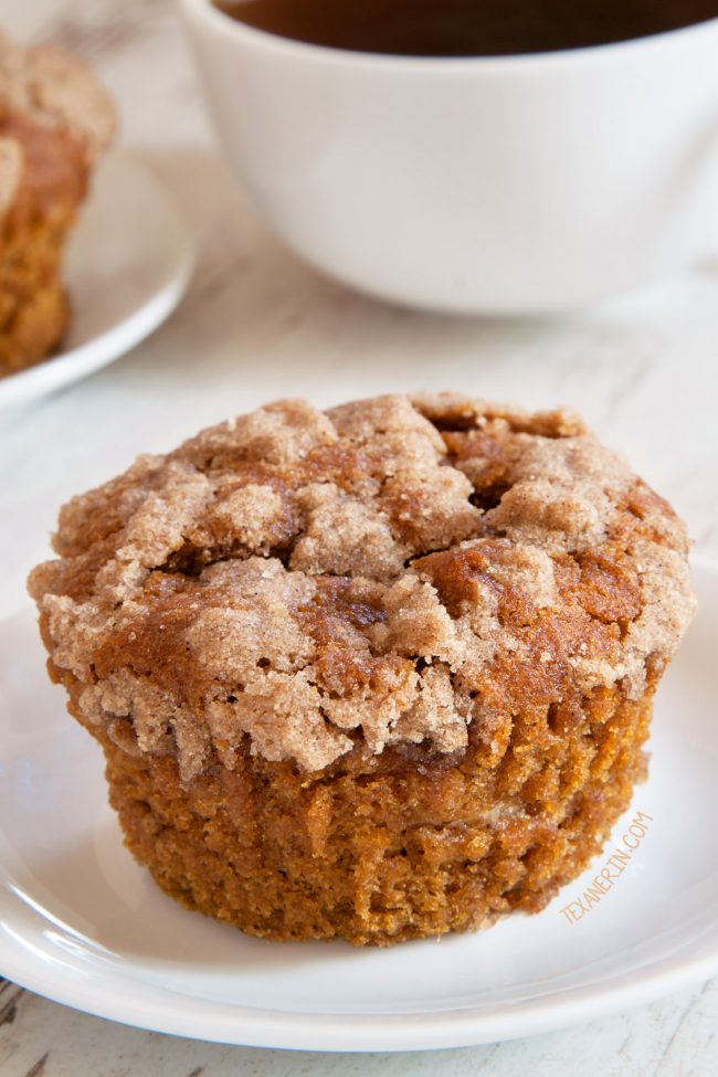 Pumpkin Cream Cheese Muffins – incredibly moist with a generous amount of filling! With gluten-free, whole grain and all-purpose flour options.