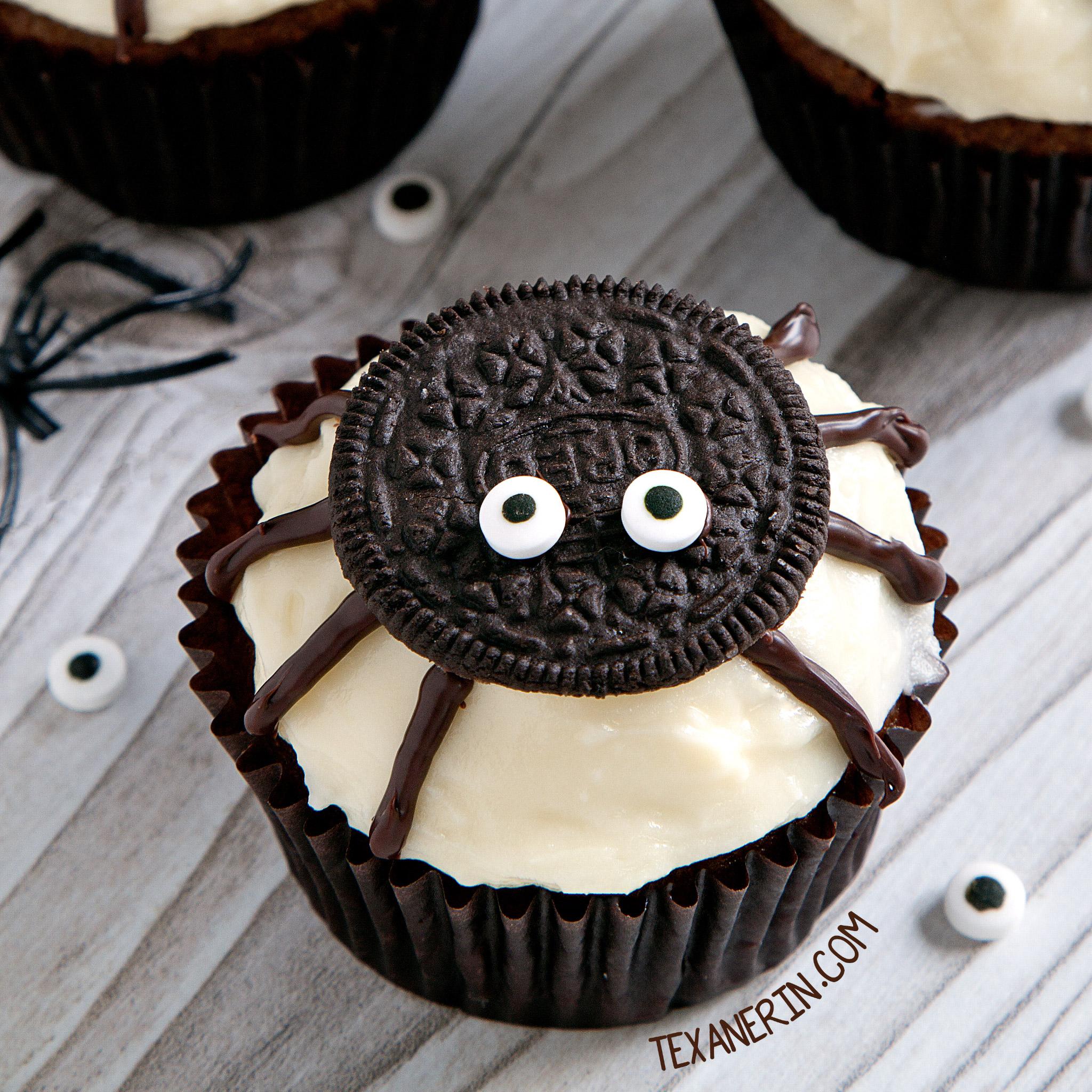 Spider cupcakes for halloween gluten free grain free for How to make halloween cupcake cakes
