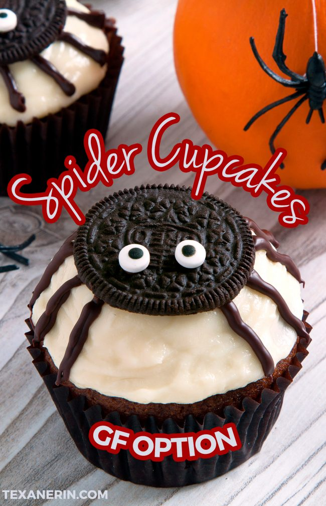 Spider Cupcakes For Halloween Gluten Free Grain Free Whole