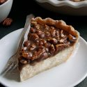 Caramel Pecan Cheesecake Pie (gluten-free, whole grain, all-purpose flour options)