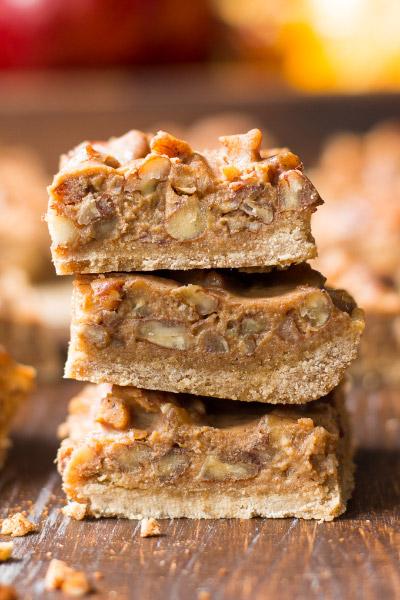 Pumpkin Caramel Pecan Fudge Bars from Paleo Running Momma