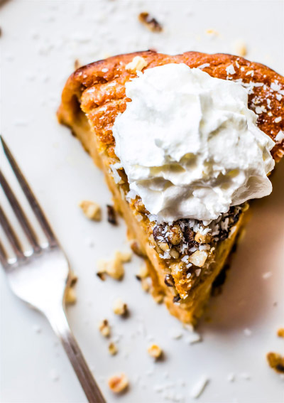 Impossibly Easy Sweet Potato Pie from Cotter Crunch