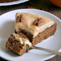Paleo Pumpkin Cake with Maple Cream Frosting