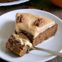 Paleo Pumpkin Cake with Maple Cream Frosting