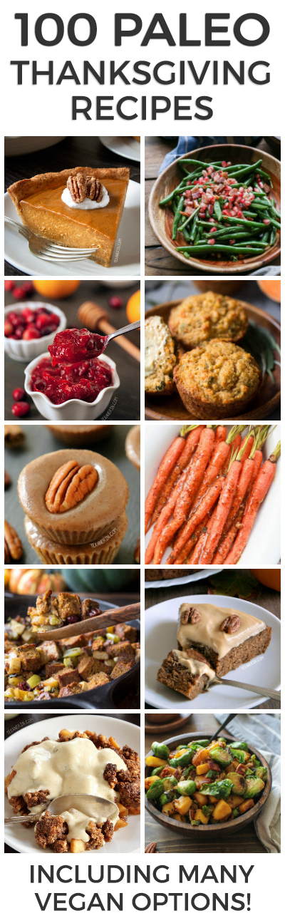 100 Paleo Thanksgiving Recipes that Your Family Will Love