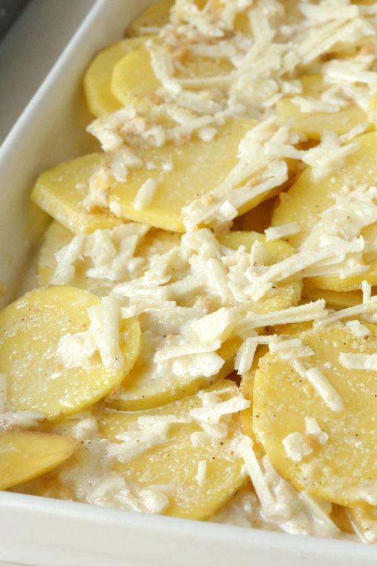 Scalloped Parmesan Potatoes