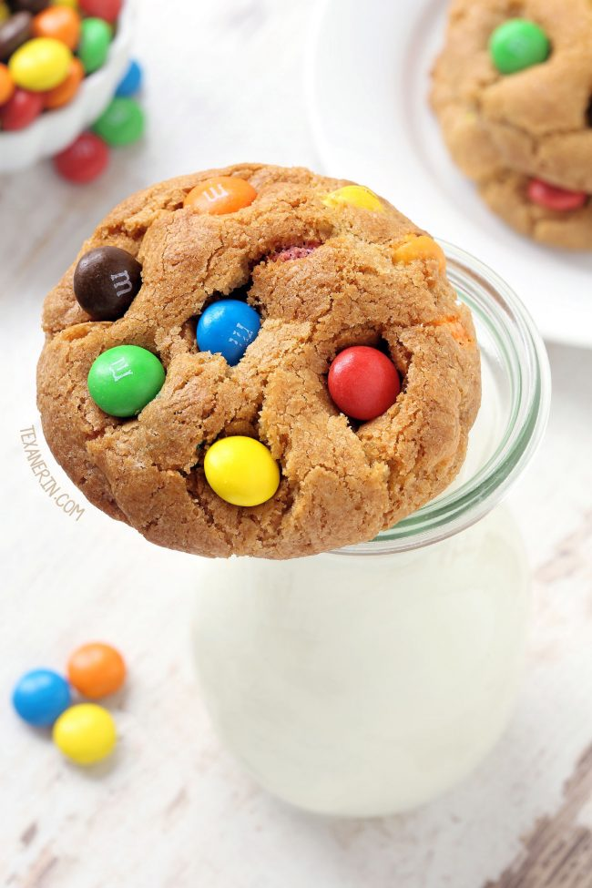 Gluten-free M&M Cookies (whole wheat, all-purpose flour options)