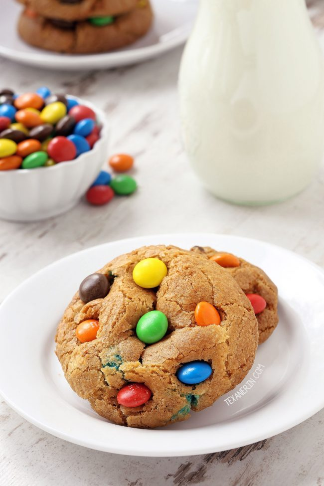 Gluten-free M&M Cookies (100% whole wheat, all-purpose flour options)